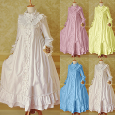 Plus Size, Medieval, Long Sleeve, Dress