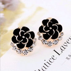 Black Earrings, Fashion, Jewelry, Gifts