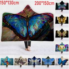 Beautiful, butterfly, Fleece, warmblanket