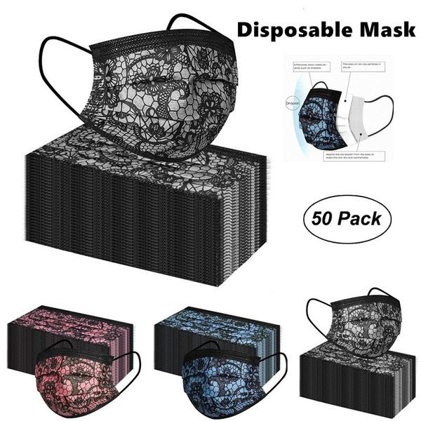 Fashion, mouthmask, Lace, Colorful