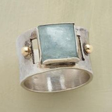 Antique, Sterling, DIAMOND, wedding ring