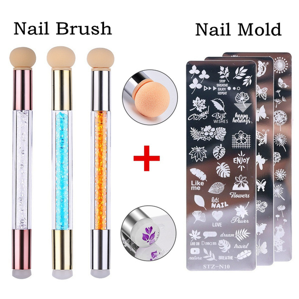Sponges, nail stickers, Stamping, Beauty tools