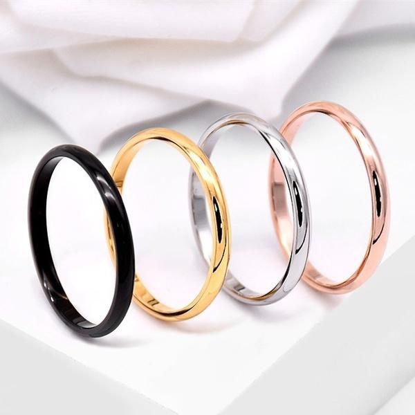 Steel, plainring, wedding ring, Jewelry