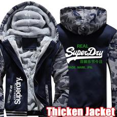 Thicken, Fashion, Winter, Fleece Hoodie