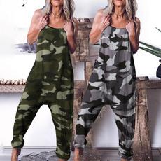 Summer, harem, trousers, camouflageprint