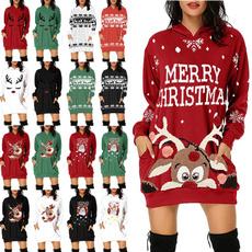 Fashion, tunic, Christmas, Long Sleeve
