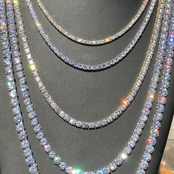 diamondtennisnecklace, shinynecklace, hiphopchoker, Diamond Necklace