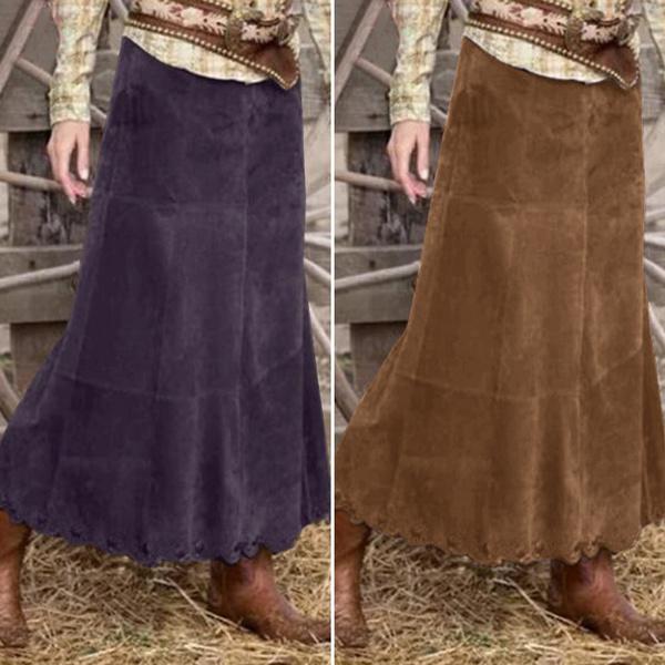 baggyskirt, long skirt, corduroyskirt, Winter