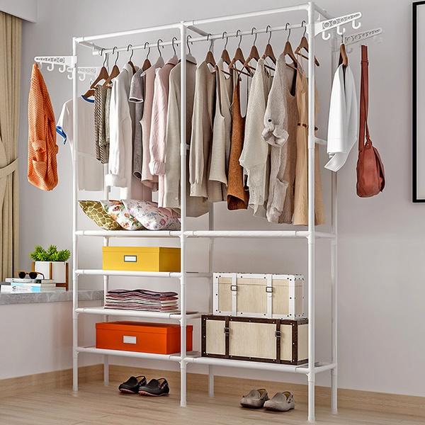 floorstandingshelf, floorclotheshanger, Iron, rackshelf