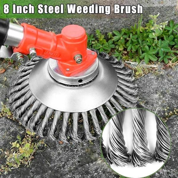 Steel, Head, Grass, steelwirebrush