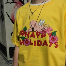 cute, Flowers, Cotton, Shirt