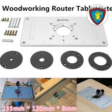 Plates, woodworkingbenche, woodworkingtable, Aluminum
