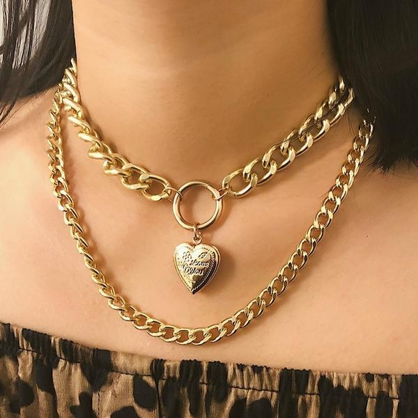 Heart, Necklaces Pendants, gold, gold necklace