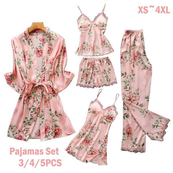 pajamaset, floralprintpajama, Floral print, Lace