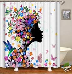hangingcurtain, Flowers, lacecurtain, curtaintieback