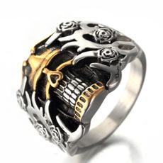 Steel, Goth, vintage ring, Jewelry