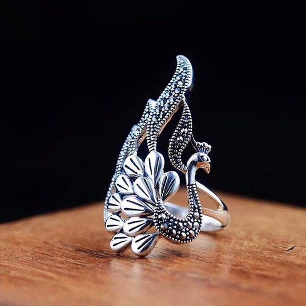 Sterling, peacock, Fashion, 925 sterling silver