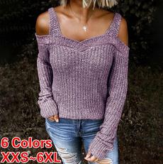 offshoulderpulloversweater, ladiessweater, Winter, pullover sweater