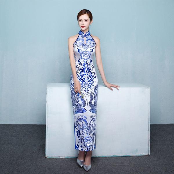 Blues, chinese dress, Chinese, Phoenix