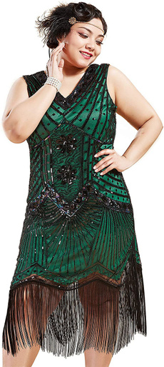 flapper, great, Plus Size, fringed