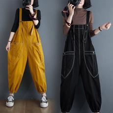 Women, romperjumpsuit, Plus Size, denim overalls women