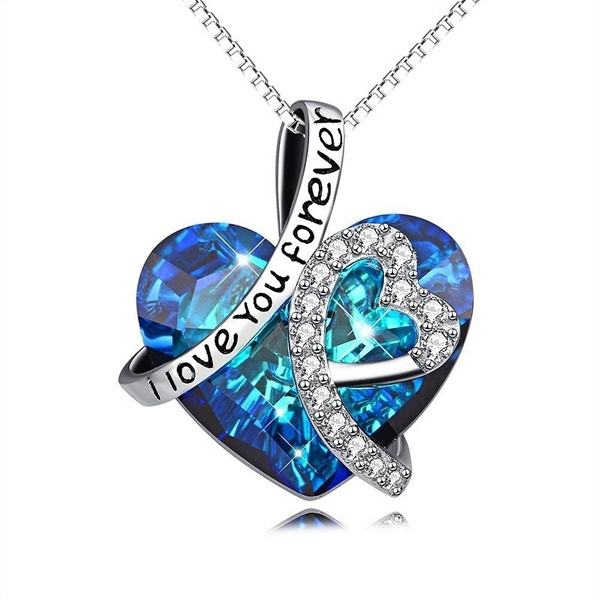 Blues, Heart, Chain Necklace, Love