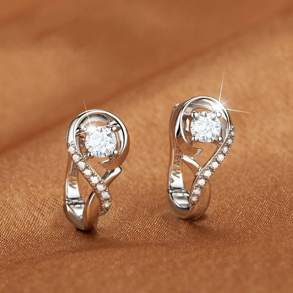 Sterling, Hoop Earring, Silver Earrings, Gifts