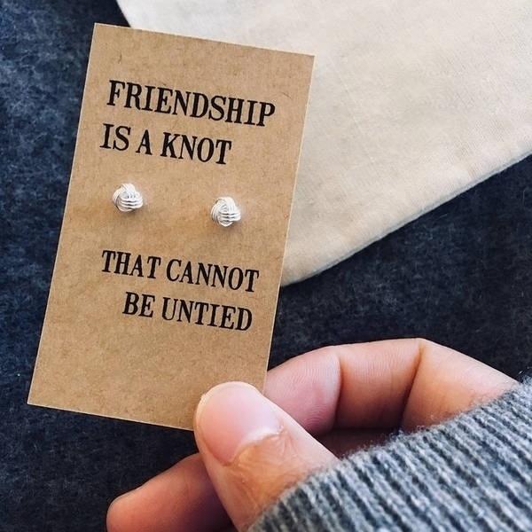 Jewelry, friendship, knot, starearring