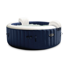 fibertechmassageblowupspasoftwaterjacuzzi, Navy, Spa, Inflatable
