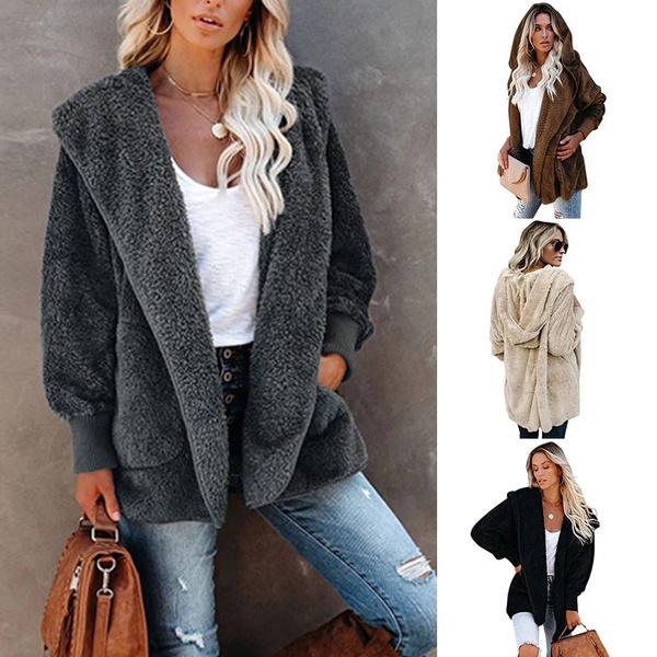Fleece, hooded, ladiesfleecejacket, plushjacket