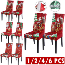 diningroomseatcover, Decor, Christmas, christmaschaircover