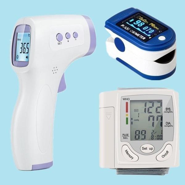 Heart, thermometersbaby, fingerpulseoximeter, Monitors