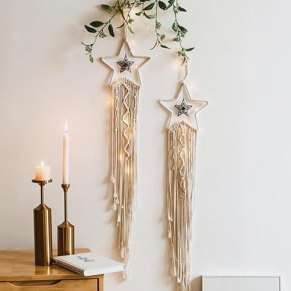chrismasdecor, Star, Dreamcatcher, Handmade
