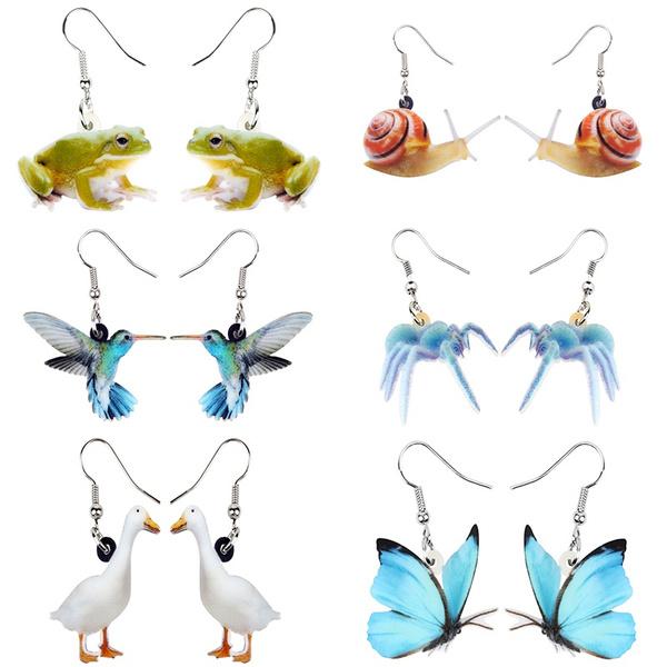 poultry, butterfly, dogearring, butterfly earrings