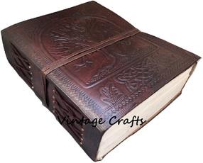 Antique, treeoflifeembossedleatherjournal, leather, Tree