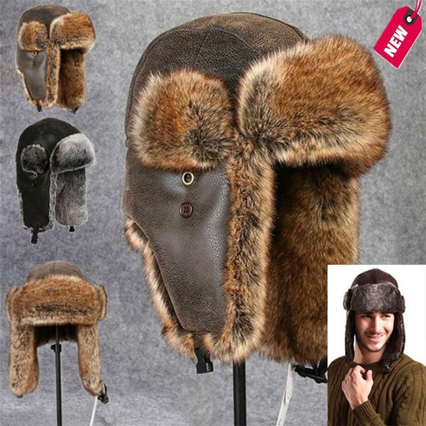 Warm Hat, Beanie, trapperhat, fur