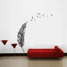 Decor, art, Home, featherswallsticker