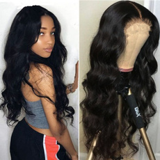 wig, straighthairpiece, Lace, Black wig