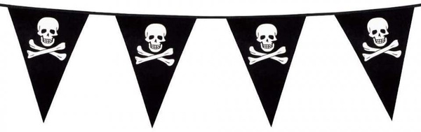 Flag, Triangles, Black & White, Lines