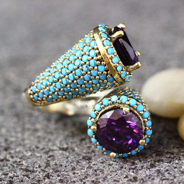 Turquoise, Fashion, wedding ring, gold
