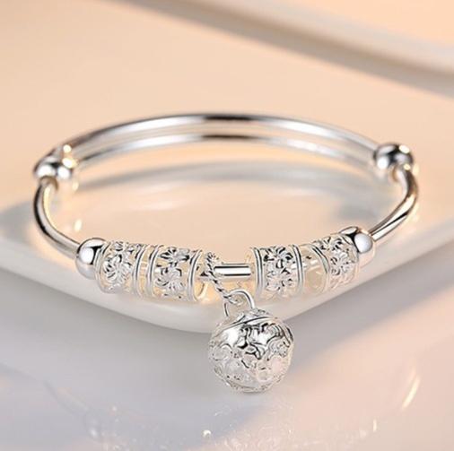 Charm Bracelet, Sterling, Pearl Bracelet, Gifts
