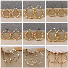 18 k, largehoopearring, Jewelry, vintage earrings