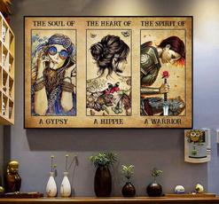 Heart, thespiritofawarriorposter, Wall Art, hippie