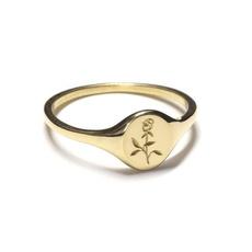 Mini, osebudsignetring, Flowers, wedding ring