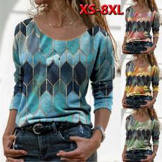 Plus size top, tunic top, Women Blouse, printed shirts