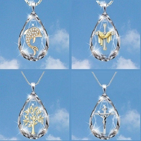 Sterling, cute, crystal pendant, Fashion