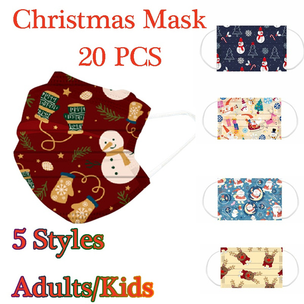 cartoonmask, mouthmask, Christmas, maskforkid