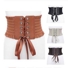 Women, wide belt, Fashion, Lace