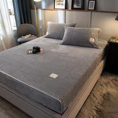 velvetplushmatresscover, Fleece, velvet, Bed Sheets
