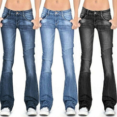 Fashion, Waist, bellbottomjean, pants